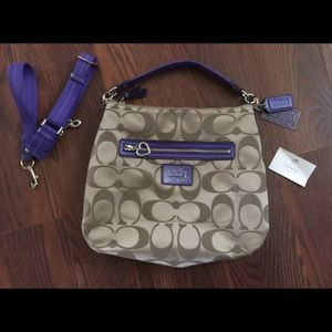 Authentic Coach BoHo satchel w/ cross body straps